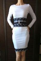 Платье белое с кружевом, размер S New Style