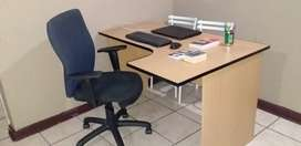 Office desk + 1 chair still in very good condition all together