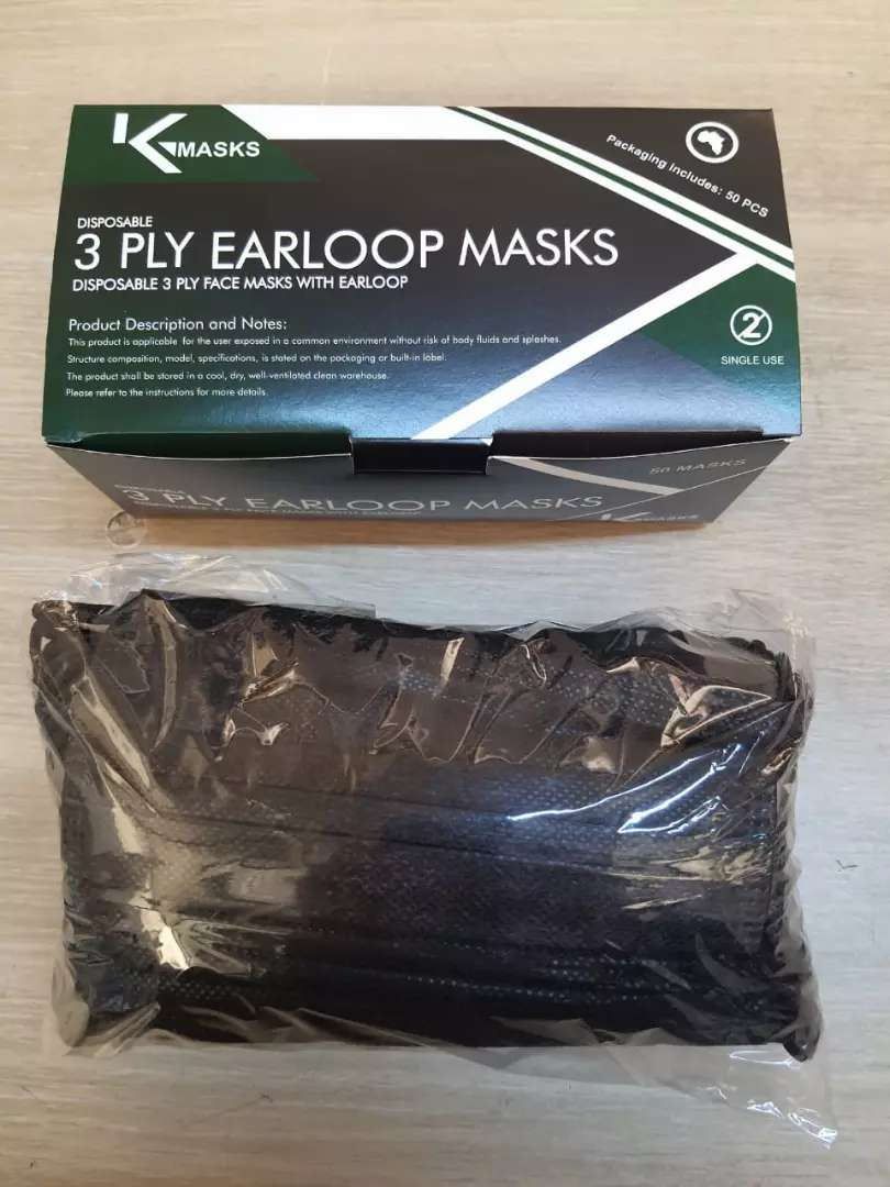 Black Disposable 3ply masks available