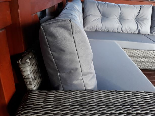 Gruba poduszka oparciowa pikowana meble z palet Mosina - image 2
