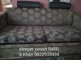 GREY SLEEPER COUCH