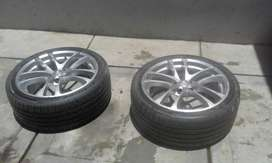 2 new second hand tyres with TSW rims 18""