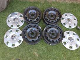 """14"""" rims and covers for a VW polo vivo"""