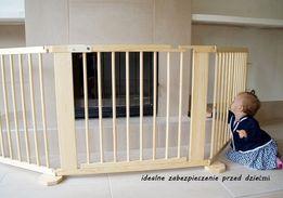 Barierka drewniana bramka DO KOMINKA DO SCHODÓW 273cm nowa