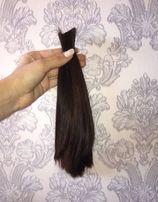 Волосы натуральные темно-коричневые
