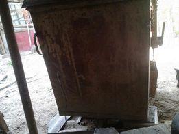 мусорный бак железный черный металл
