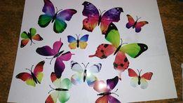 Бабочки 3D декор на магните из Пластика