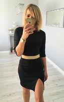 Sukienka ze złotą gumą S/M