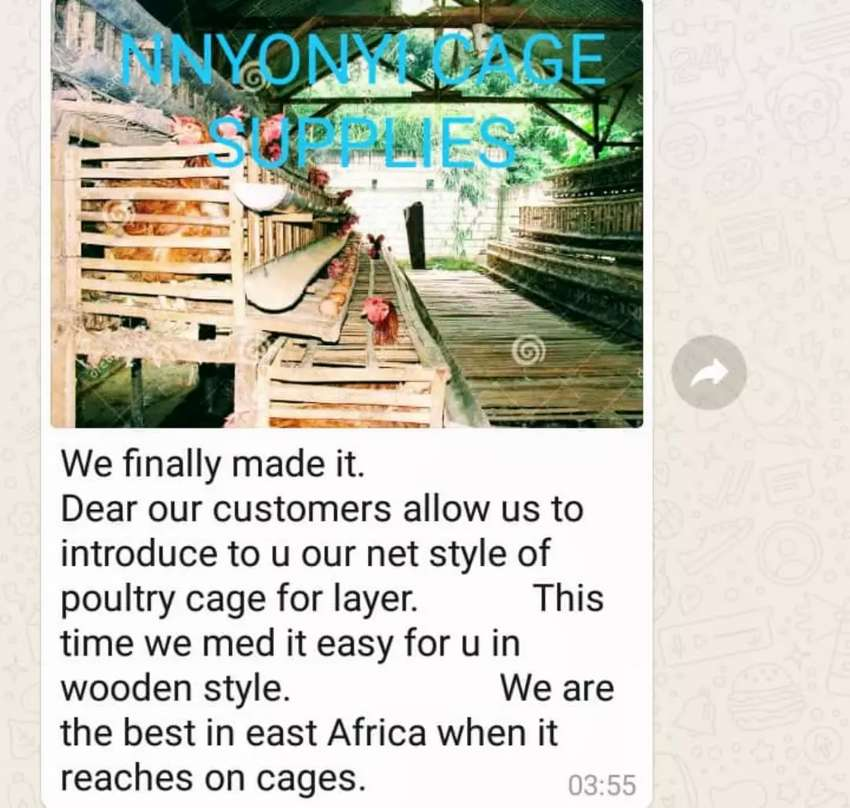 Wooden poultry cage for layers 0