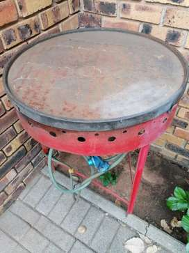 Cast Iron gas braai plate, great for Chinese braai and steaks