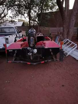 Boat and trailor with non runner motor 50 hp