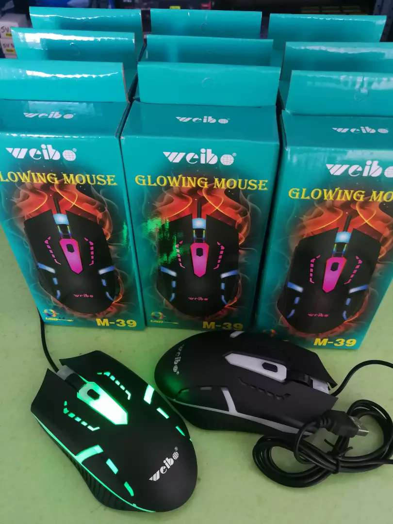 Glowing Computer Mouse 0