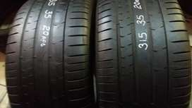 Two back tyres for BMW x5 sizes 315/35/20 Pirelli Run flat now availab