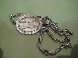 серебряная цепочка якорка с ладанкой 41,6 гр. 925 пр.