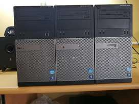 Dell optiplex 3010 i3 2nd gen towers for sale only