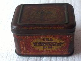 Puszka na herbatę marki W. Wissotzky Tea 1849