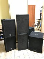 Комплект музыкальной аппаратуры (JBL JRX112M, HOTA-12 и сабвуфер MAG