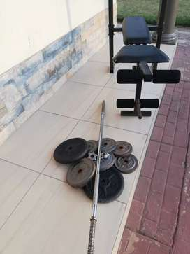 Bench and weight