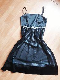 Czarna koktajlowa sukienka okazjonalna