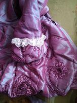 Теплое красивое платье на флисе для девочки