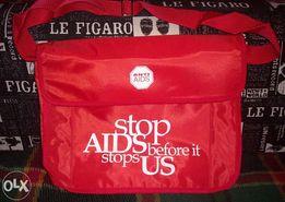 Молодежная сумка через плечо с принтом «Stop aids before it stops us»