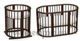 Овальная кроватка Ovalbed 8в1 (венге) Люлька и пеленатор одновременно