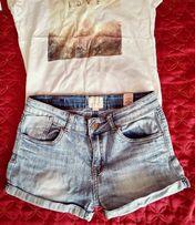 Джинсовые шорты на девочку 9-10лет