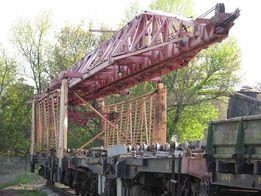 железнодорожный путеукладочный кран УК 25/9 и моторную платформу МПД