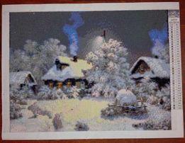 Алмазная вышивка (мозаика) картина Снег