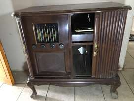 PYE Radio and Record player in cabinett