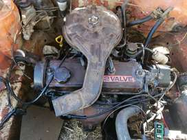 Toyota 2E engine with gearbox