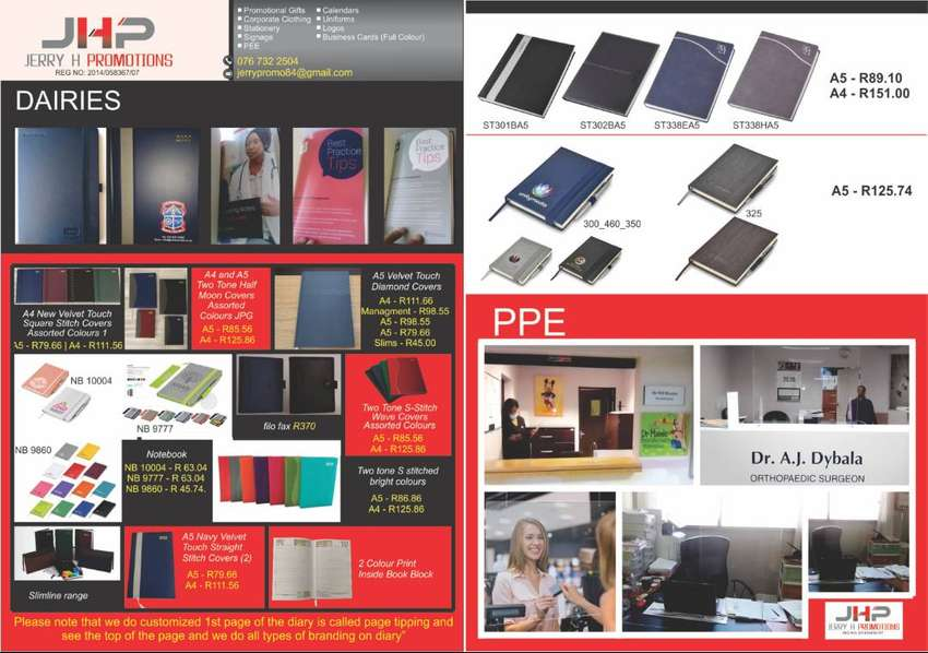 Cough Shields, Business Cards,diaries and all branding 0