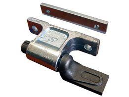 Zawias burty aluminiowej z podkładką , do wspawania