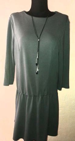 Платье серое, трикотажное, с заниженной талией 50 р Коломыя - изображение 1