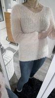 Włochaty Sweter_Pudrowy _Róż_Fluffy