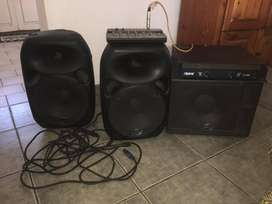 "Wharfedale 2x12"" speakers, 1x15"" Sub"