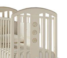 Feretti Elegance Dondolo Łóżeczko niemowlęce dziecięce białe materac