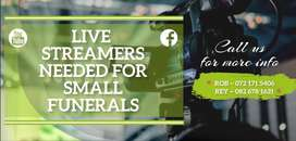 Live streamers  Urgently Needed in Cape Town