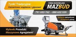 Wylewki Maszynowe, Tynki cementowe i gipsowe - MazBud (CAŁE ŁÓDZKIE)