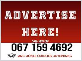 Mobile Advertising Trailers for hire. R6000/month