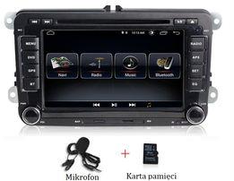 Radio 2-DIN Android Nawigacja GPS VW Passat Golf Skoda Seat