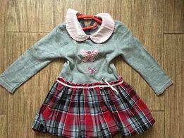 Платье тёплое+кардиган 2-2,5 года