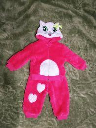 Тёплый плюшевый костюм для девочки кофта штаны