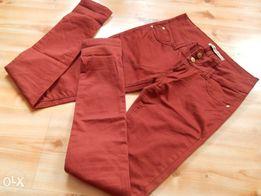 Spodnie rurki bordo