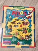 Ilustrowany Atlas Polski 6 x Puzzle