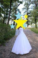 БЕЛОСНЕЖНОЕ свадебное платье!