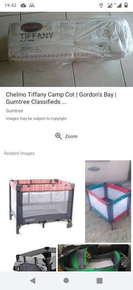 Chelino camp cot , toddler bed ,walking ring , high feeding chair