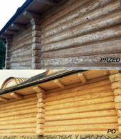 Piaskowanie mobilne drewna domów cegły stali Lublin Świdnik Zamość