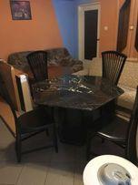 Stół granitowy + 4 krzesła / granit