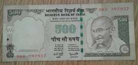 2008 India 500 Rupees note
